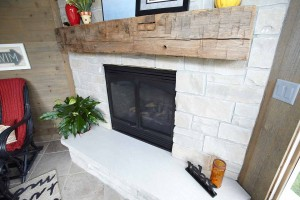 Fireplace at Cindy Lane Custom Home