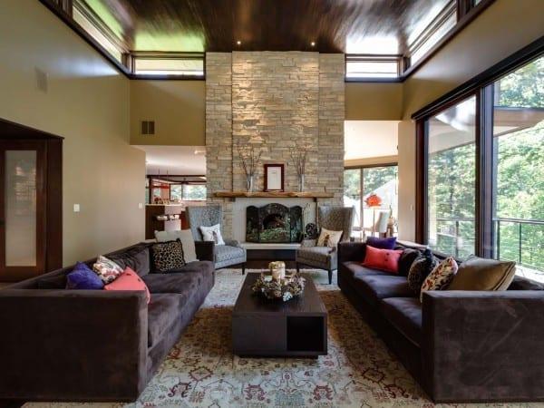 Great Room at Lakeside Retreat Custom Home