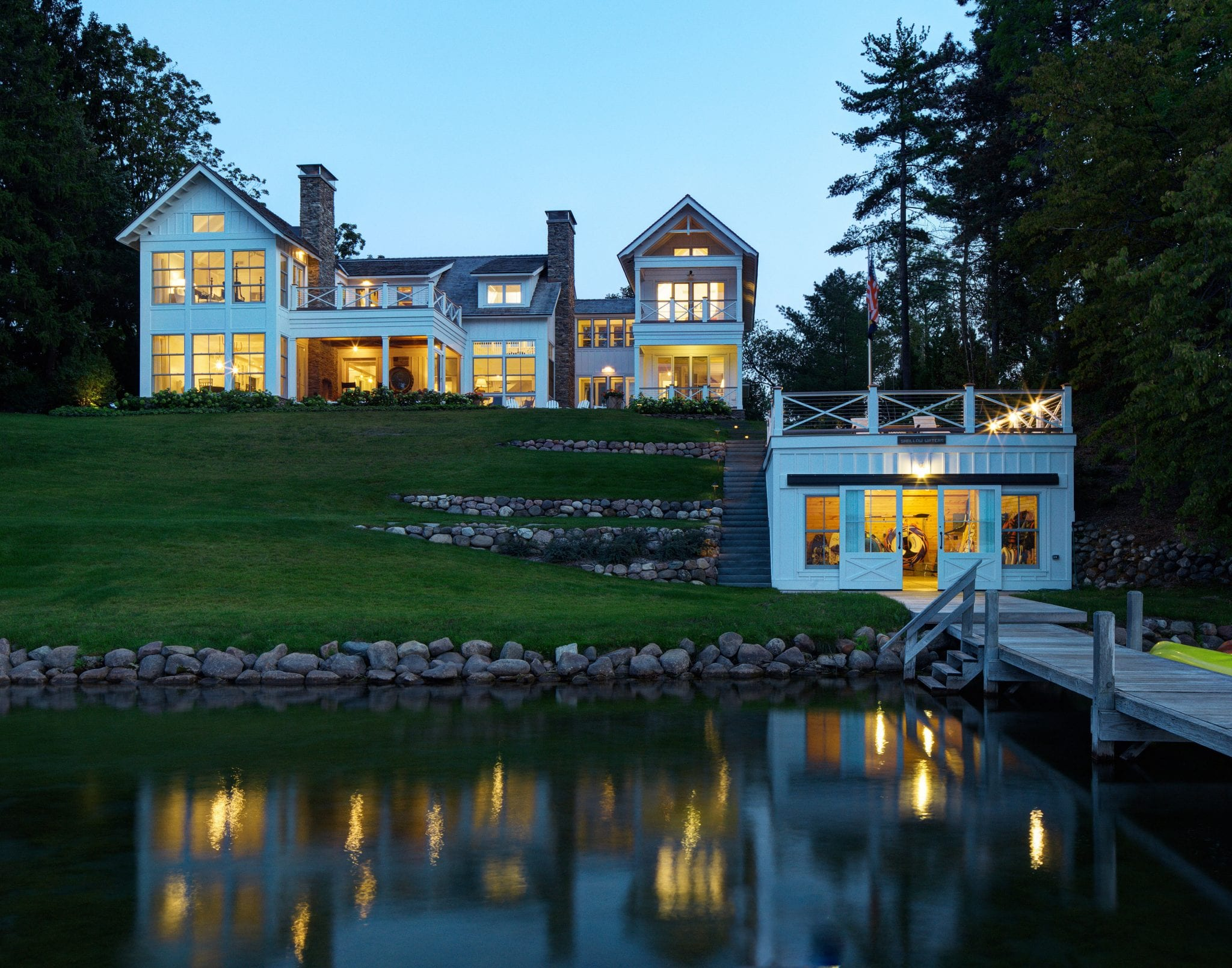 Celebrating the 4th of July at a Custom Lake Home