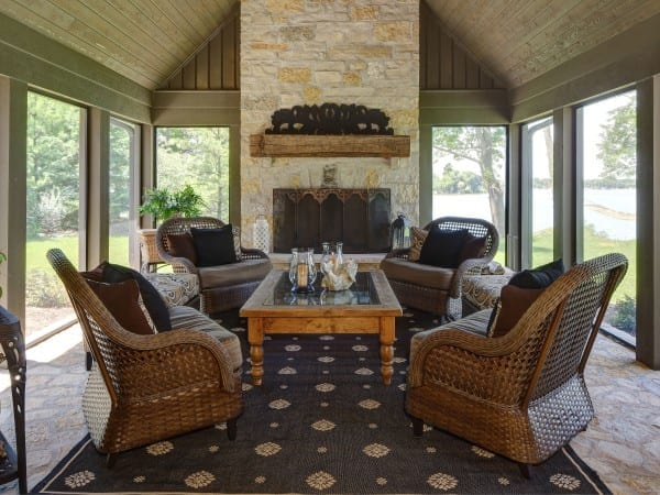 Three Seasons Room in Wisconsin Luxury Home