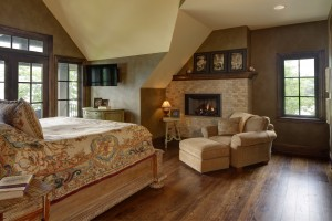 Master Bedroom in Blackhawk Custom Lake Home