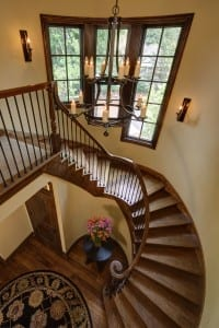 Staircase example for ideas to build your custom lake home
