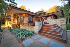 The Approach to Lakeside Custom Home