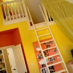 Children's bedroom painted yellow