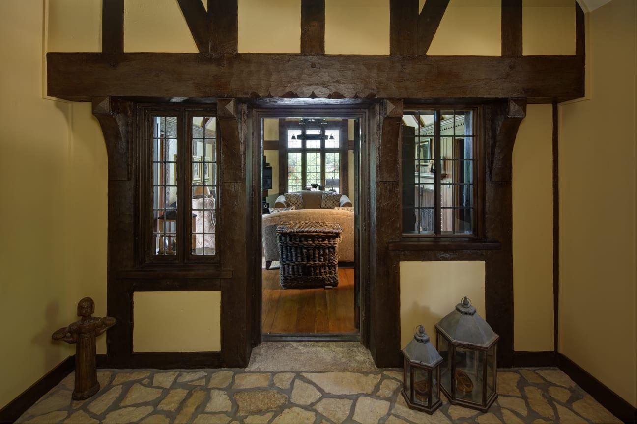 Custom home builder use of reclaimed materials.