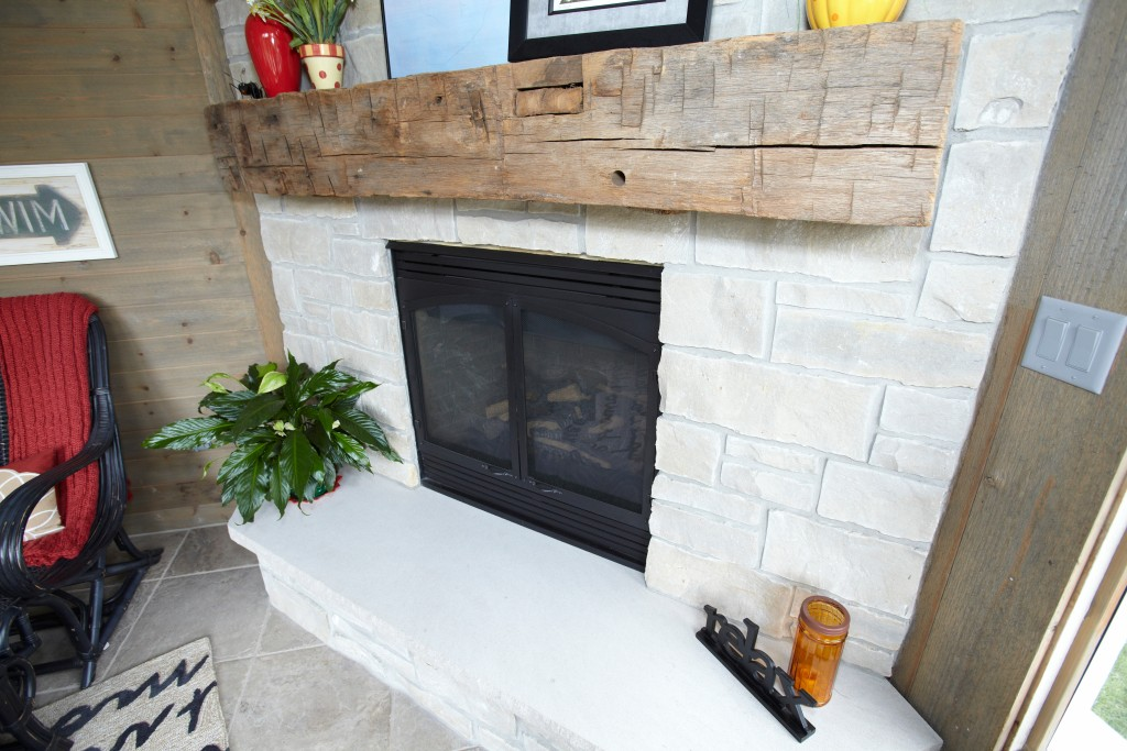 fireplace in a home, example of a unique feature by Colby Construction, a milwaukee custom home builder