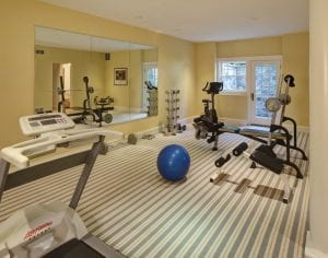 home gyms - home gym example in a custom home