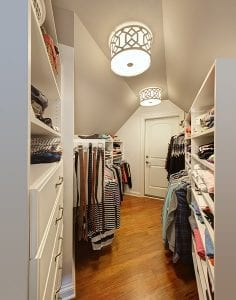 Well-Reasoned Closet Space in a Custom-Built Home