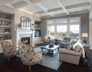 Shelving Solutions to Solve Storage and Display in Your Custom Built Home - Great Room