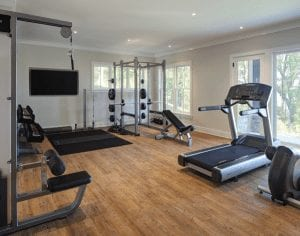 a home gym example for Home Gyms blog post