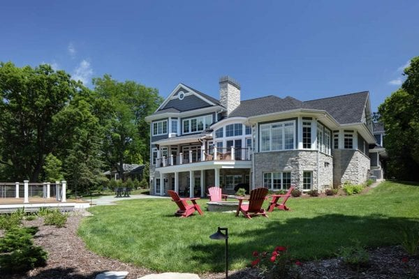 summer living in a custom lake home, example of a Colby Construction lake home
