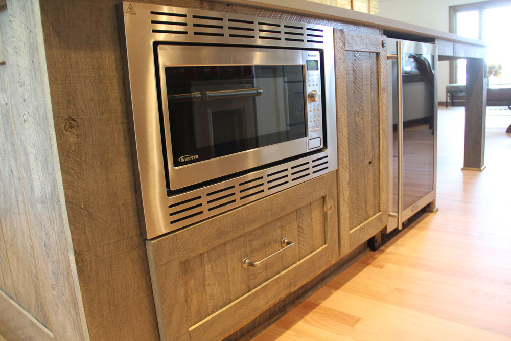 Luxury Appliances for Your Custom Kitchen blog post - microwave close up