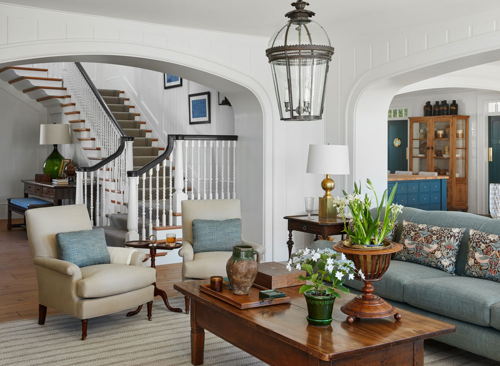 stairway and livingroom photo